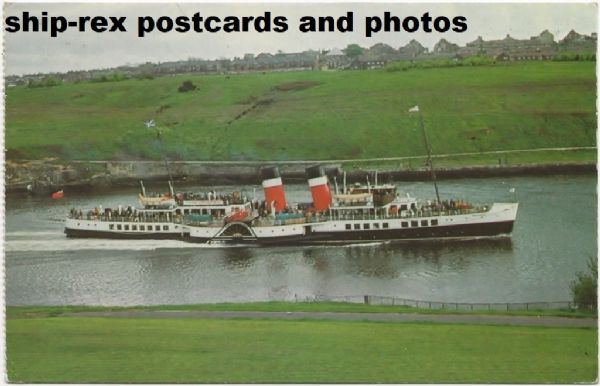 WAVERLEY (1947, Waverley Excursions) at Newcastle, postcard (a)